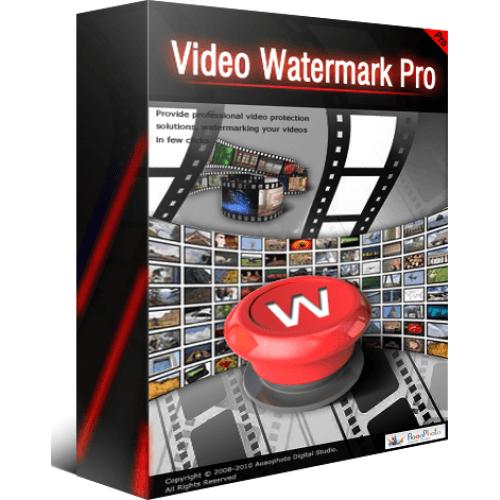 ساخت واترمارک با نرم افزار aoao video watermark