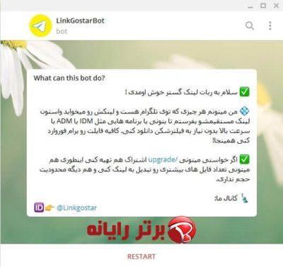 بهترین روش دانلود از تلگرام IDM - سومین ربات دانلود از تلگرام 1
