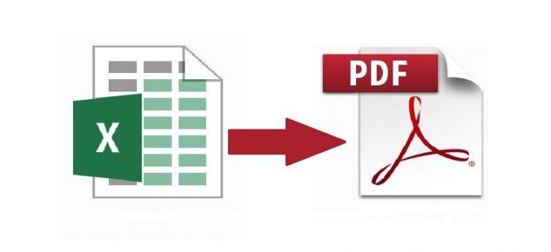 تبدیل فایل اکسل به PDF بدون نیاز به نصب نرم افزار