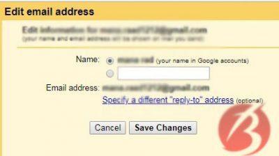 نحوه تغییر نام کاربری جیمیل در دسکتاپ