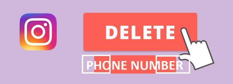 نحوه حذف شماره اینستاگرام در اینستاگرام وب