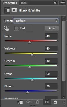 روش چهارم جهت سیاه و سفید کردن عکس رنگی در فتوشاپ
