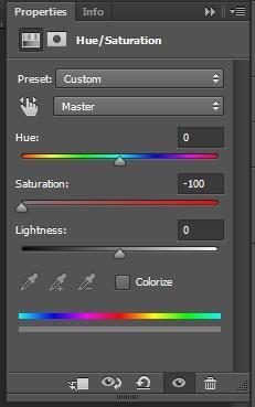 روش پنجم جهت سیاه و سفید کردن عکس رنگی در فتوشاپ