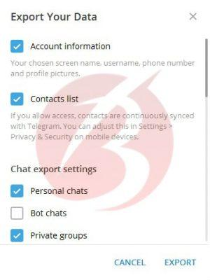 نحوه بکاپ گیری از اطلاعات یک چت در تلگرام دسکتاپ
