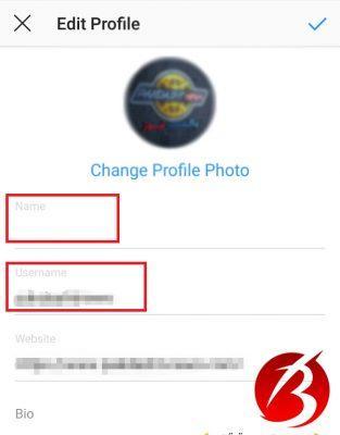 نحوه تغییر نام کاربری و نام صفحه در اینستاگرام در گوشی