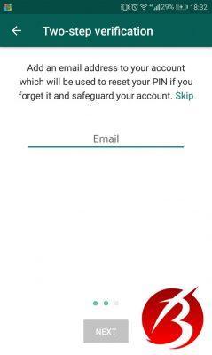 روش سوم جهت بالا بردن امنیت اکانت در واتساپ