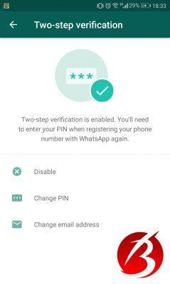 روش اول جهت بالا بردن امنیت اکانت در واتساپ
