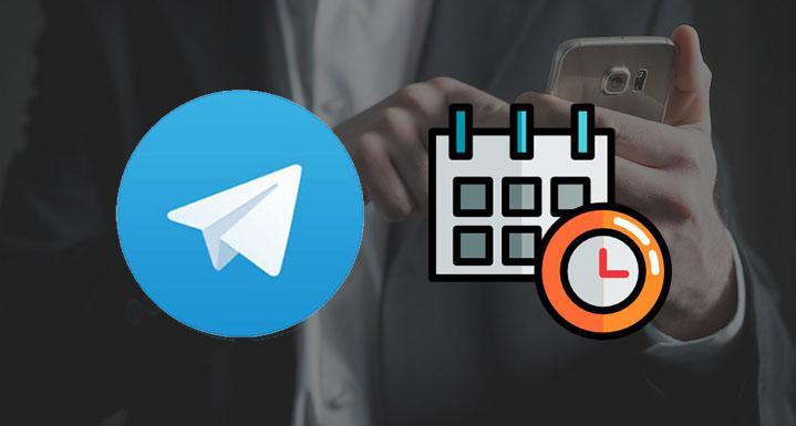 زمان بندی پست در تلگرام - تصویر اول