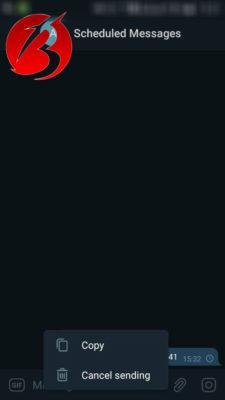 زمان بندی پست در تلگرام - تصویر هفتم