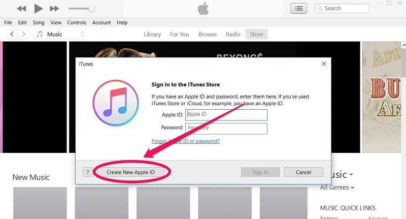 مرحله سوم - ساخت اپل آیدی با نرم افزار آیتونز اپل