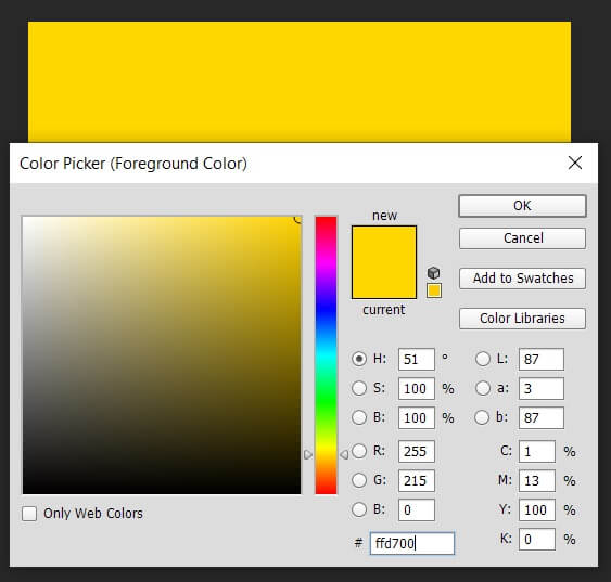 کد رنگ طلایی در طراحی - عکس اول