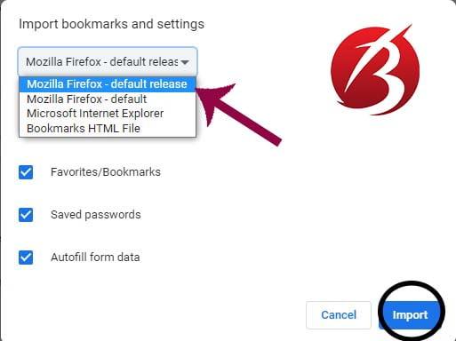 جابجایی داده های فایرفاکس به گوگل کروم - آموزش کامل
