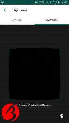 افزودن مخاطب با کیو آر کد واتساپ - تصویرشش