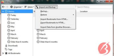 بکاپ گرفتن فایرفاکس و بازیابی اطلاعات - تصویر چهارم