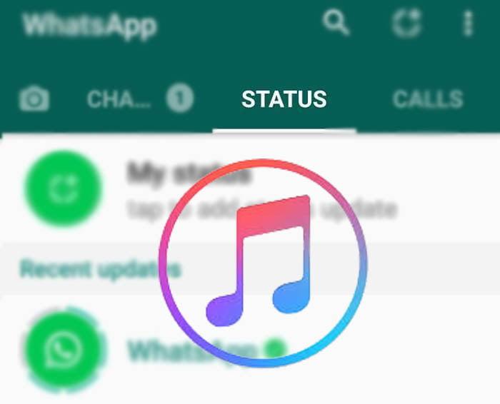 قرار دادن آهنگ در استوری واتساپ و ارسال آن - تصویر اصلی