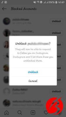 جدید ترین روش ها برای آن بلاک کردن فرد در اینستاگرام -عکس نهم
