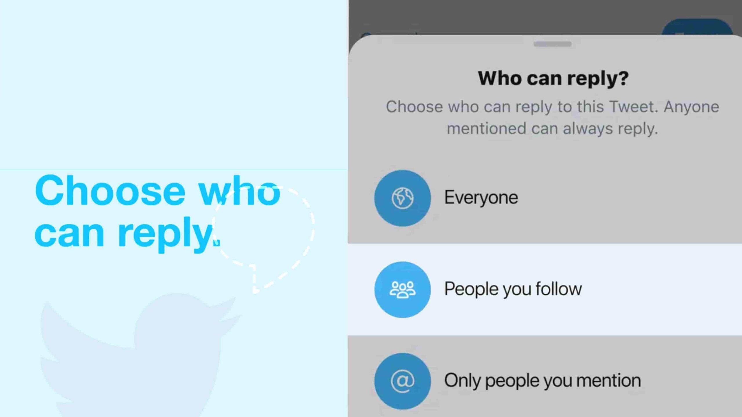 ایجاد محدودیت در پاسخ به توییت - آموزش کامل