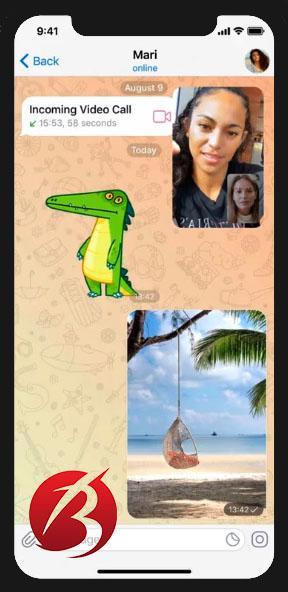 تماس ویدیویی تلگرام - عکس چهار
