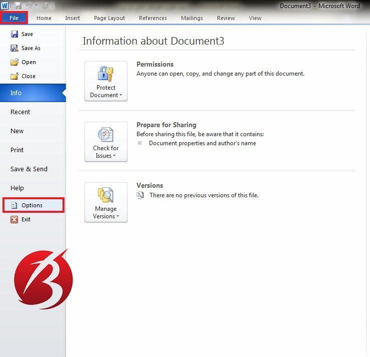 ذخیره خودکار فایل در ورد - سیو فایل ورد
