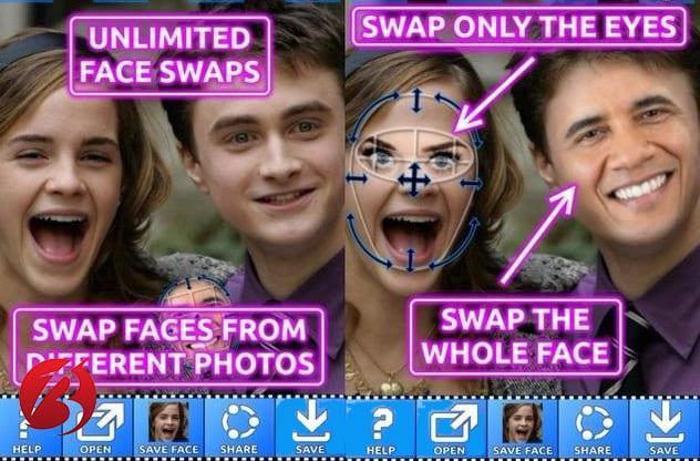 برنامه های تغییر چهره برای اندروید - Face Swap Booth