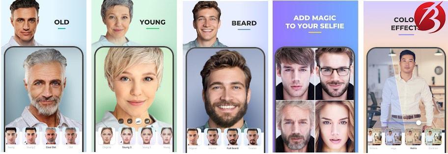 برنامه های تغییر چهره برای اندروید - FaceApp
