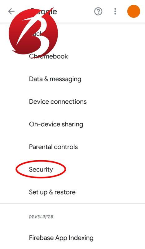 سرقت موبایل - تغییر تنظیمات گوگل