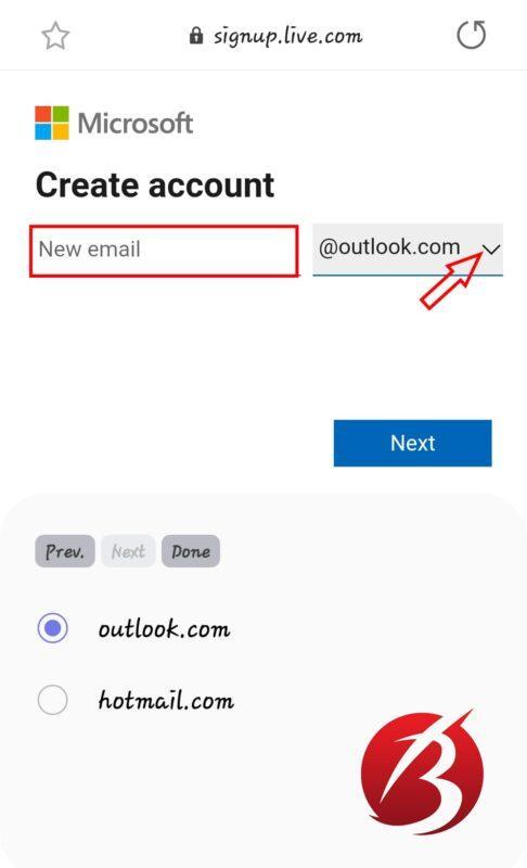 ساخت ایمیل - ساخت ایمیل در مایکروسافت