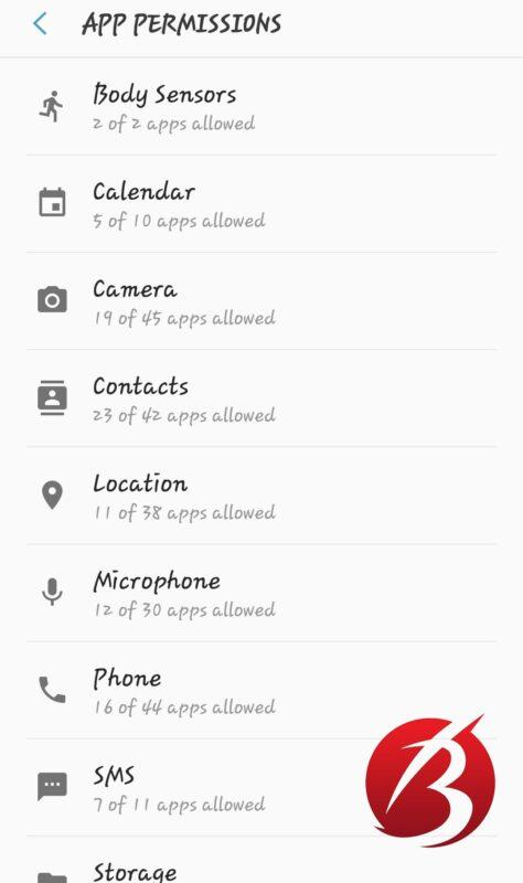 دسترسی های اپلیکیشن اندروید - برنامه های مجوز دار