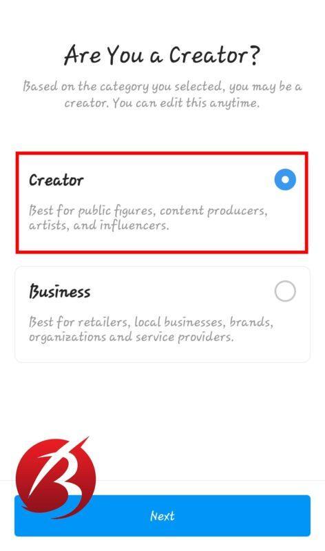 حساب Creator Account در اینستاگرام - عکس هفت