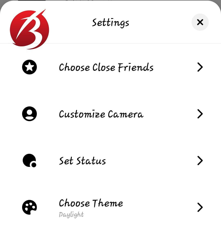 پیام رسان instagram threads - تنظیمات تردز
