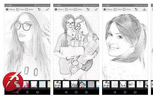 برنامه های تبدیل عکس به نقاشی - Pencil Sketch Filters for Pics
