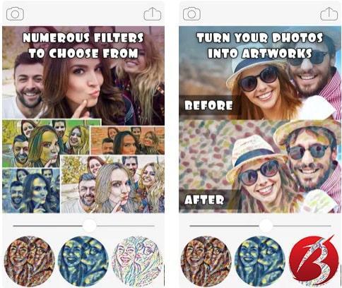 برنامه های تبدیل عکس به نقاشی - Art Filters & Effects – Cool Art Photo Editor