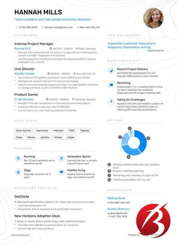 وب سایت های کاربردی در اینترنت - سایت Enhancv