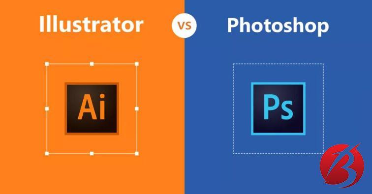 نرم افزار ایلوستریتور - مقایسه با فتوشاپ