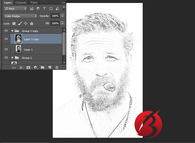 تبدیل عکس به نقاشی با مداد در فتوشاپ - عکس یازده