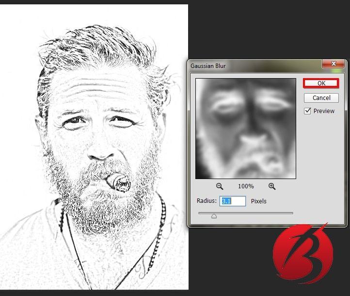 تبدیل عکس به نقاشی با مداد در فتوشاپ - عکس دوازده