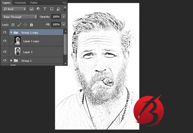 تبدیل عکس به نقاشی با مداد در فتوشاپ - عکس سیزده