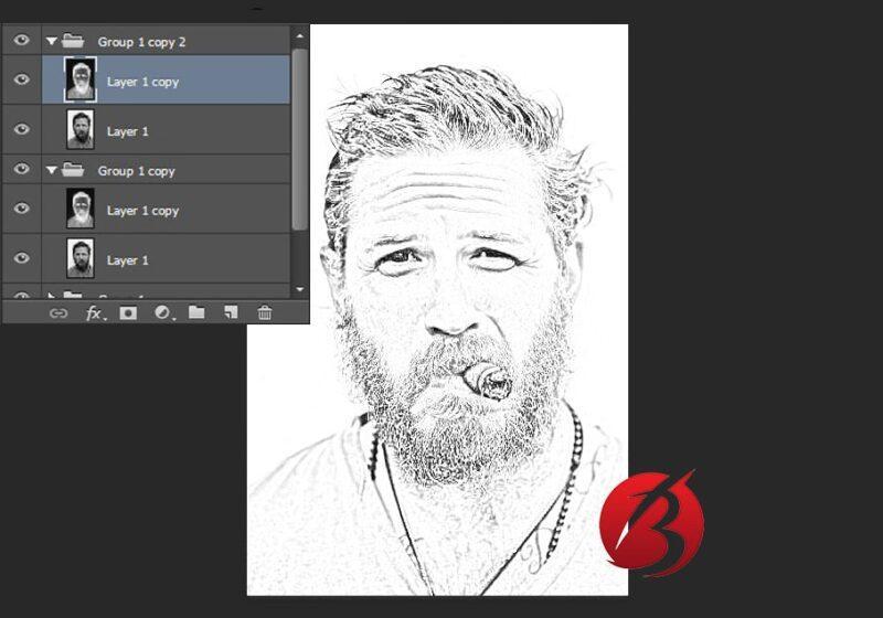 تبدیل عکس به نقاشی با مداد در فتوشاپ - عکس شانزده