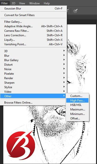 تبدیل عکس به نقاشی با مداد در فتوشاپ - عکس بیست و سه