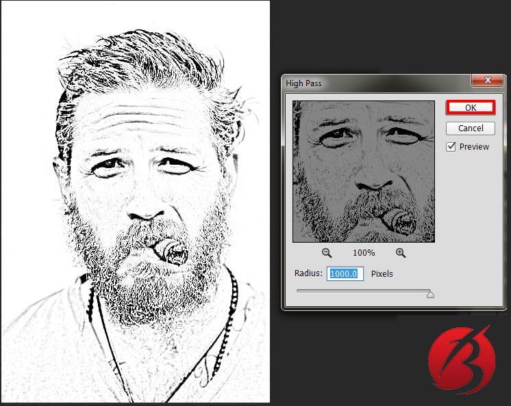 تبدیل عکس به نقاشی با مداد در فتوشاپ - عکس بیست و چهار