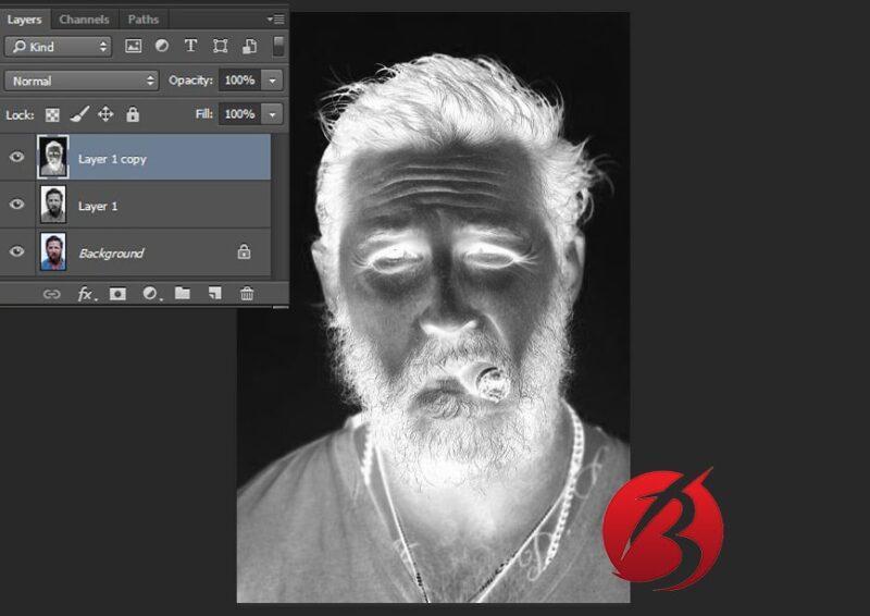 تبدیل عکس به نقاشی با مداد در فتوشاپ - عکس پنج