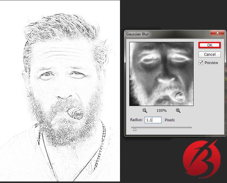 تبدیل عکس به نقاشی با مداد در فتوشاپ - عکس هشت