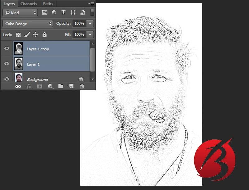 تبدیل عکس به نقاشی با مداد در فتوشاپ - عکس نه
