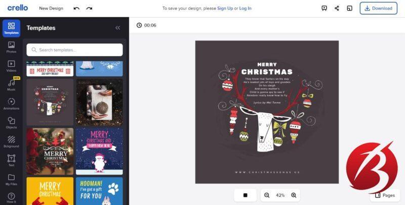 سرویس های رایگان ساخت موشن گرافیک - سرویس آنلاین Crello