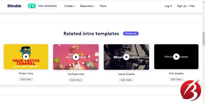 سرویس های رایگان ساخت موشن گرافیک - سایت Biteable