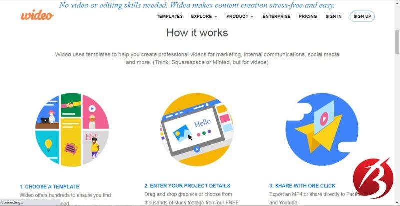 سرویس های رایگان ساخت موشن گرافیک - سایت Wideo