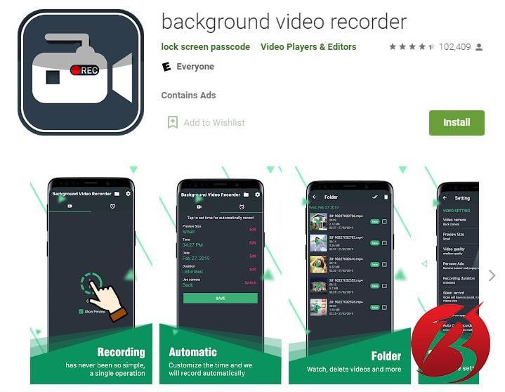 فیلم برداری مخفی در گوشی های اندروید - برنامه Background Video Recorder