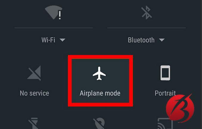 حذف تبلیغات بازی های اندروید - روشن کردن حالت هواپیما