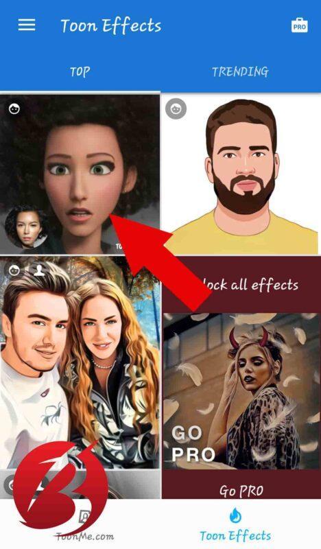 تبدیل عکس به انیمیشن با برنامه تون می - آموزش تصویری