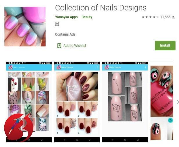 برنامه های طراحی ناخن برای اندروید - برنامه برنامه Nails Tutorial